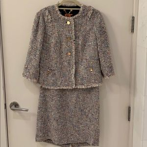Tory Burch tweed dress and jacket set